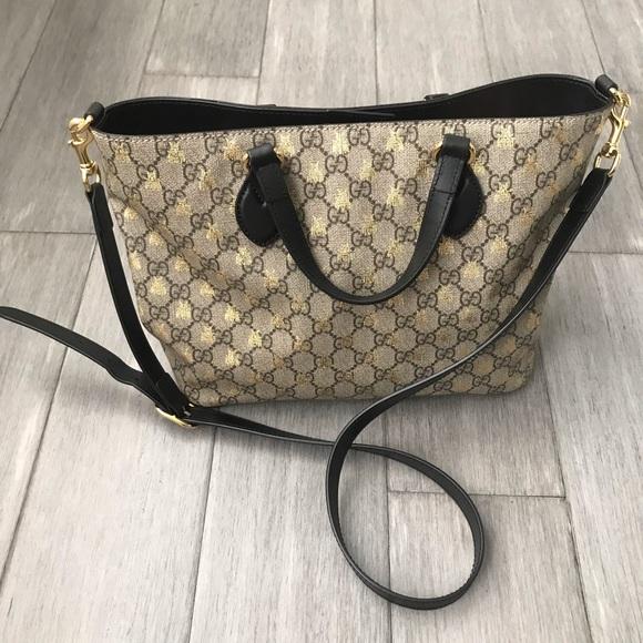 e78164737 Gucci Bags | Bee Gg Supreme Small Canvas Tote | Poshmark